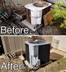 before and after of hvac