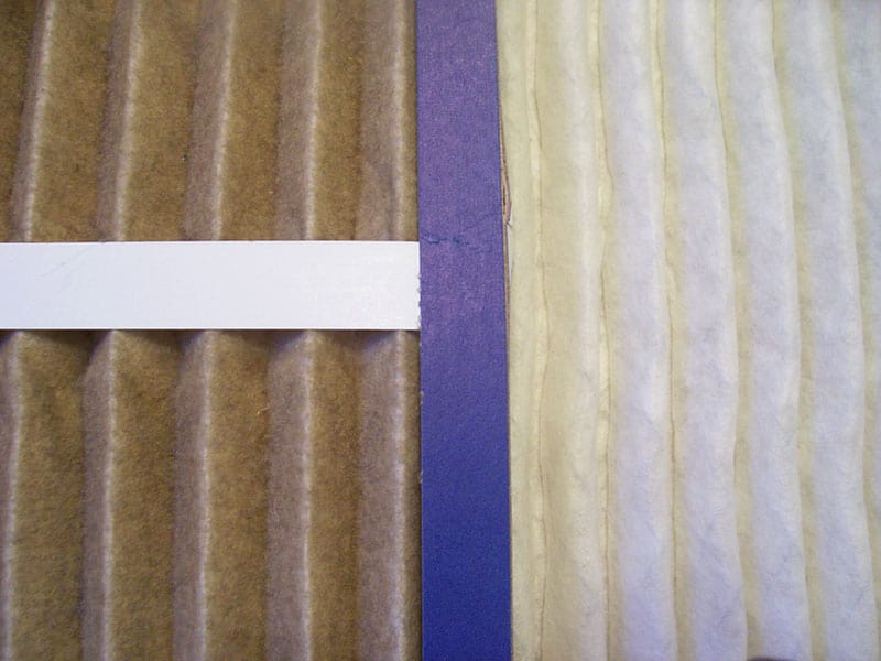Comparison of a clean and dirty paper air filter