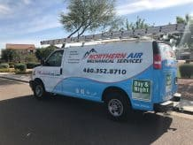 Northern Air work van in Gilbert