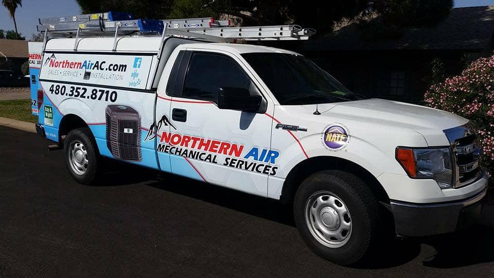 Northern Air work truck in Mesa AZ