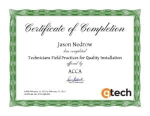 HVAC Technician Certification