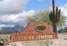 Welcome to Apache Junction sign