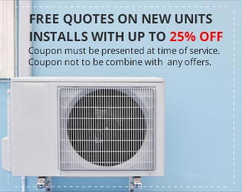 Free Quotes on New Units Installs with up to 25% off