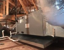 Ac, air handler install in attic, Gilbert AZ