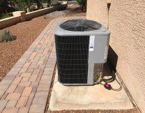 Exterior AC install in Gilbert AZ