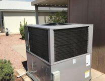 Exterior HVAC system install, Gilbert AZ