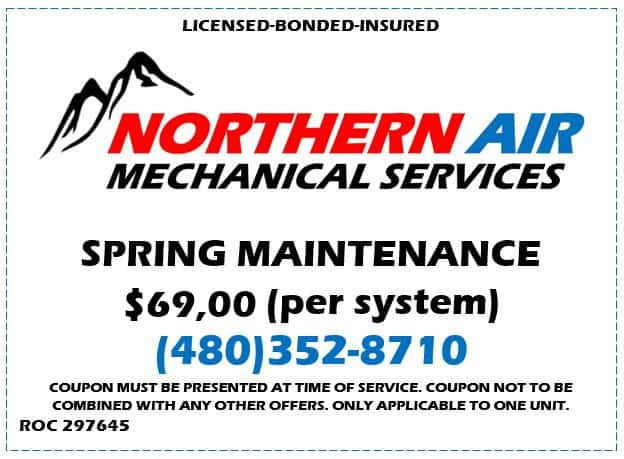 Northern Air Spring Maintenance HVAC Special