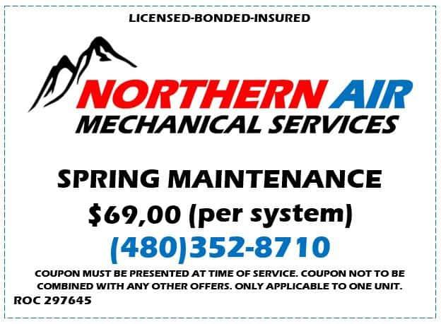 Northern Air Spring Maintenance HVAC Special